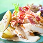 Ensalada de pollo y patatas nuevas