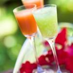 Gazpacho y refresco de pepino