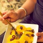 Ensalada de dátiles y naranja