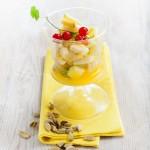 Macedonia de frutas en almíbar