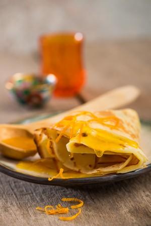 03311 Crepes con almíbar de naranja