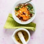 Ensalada de zanahorias y aguacate