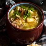 Sopa de coliflor hinojo y patatas
