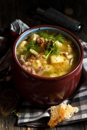 3420 Sopa de coliflor hinojo y patatas