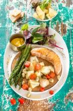 3429 Salmón a la plancha con verduras