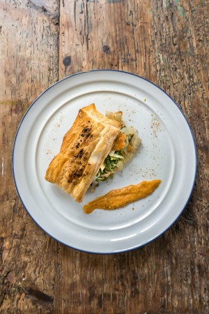 chard in puff pastry
