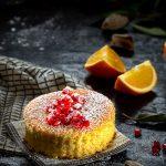 Tarta de almendra y naranja