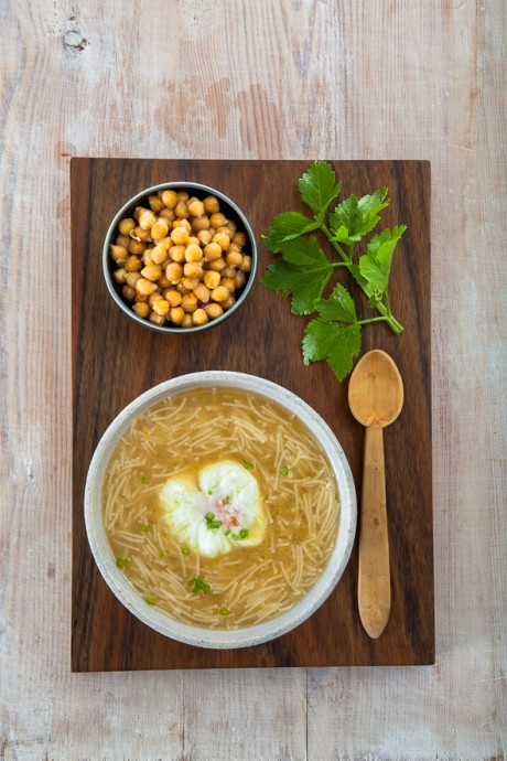 chickpea soup with eggs